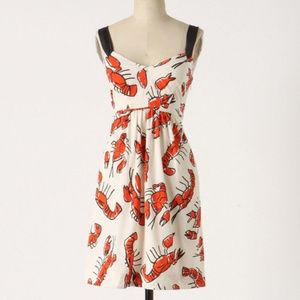 Anthro Edme & Esyllte Salty Seas Lobster Dress